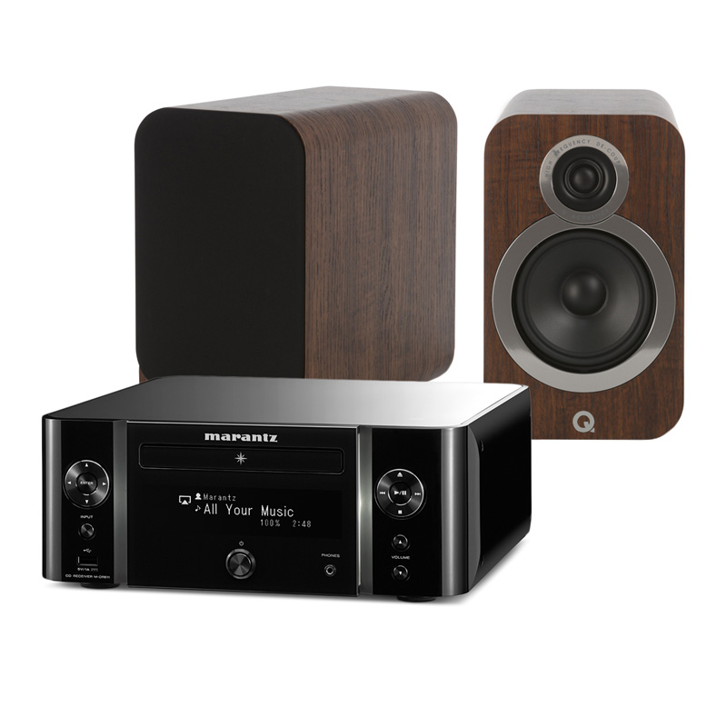 Marantz M-CR611 Melody Media + Q Acoustics 3020i